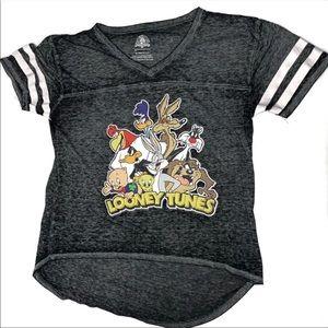 Looney Tunes Gray Burnout High Low Top Juniors XL